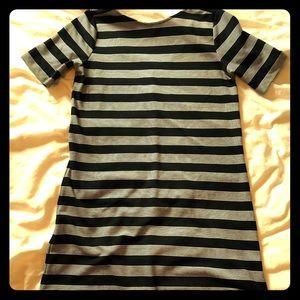 Gap black and white striped dress
